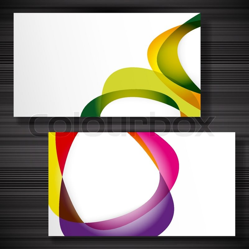 Abstract business-card with forms of empty frames for your card ...