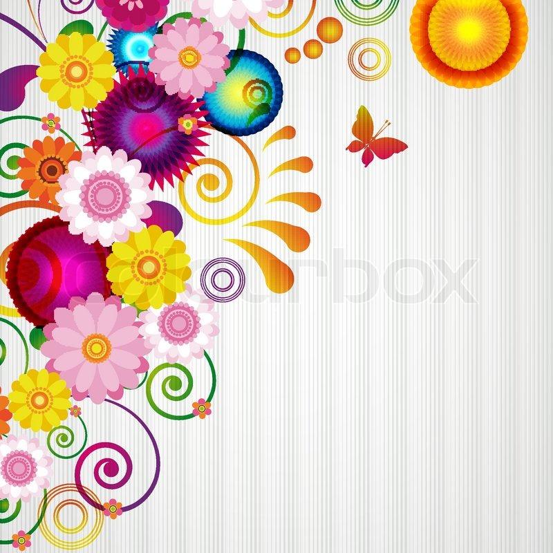 Gift Card Floral Design Background