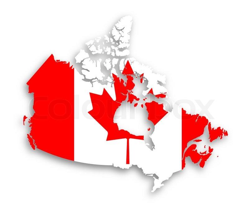 kanada karte mit der flagge im inneren stockfoto colourbox clip art stacked coins clipart stickball