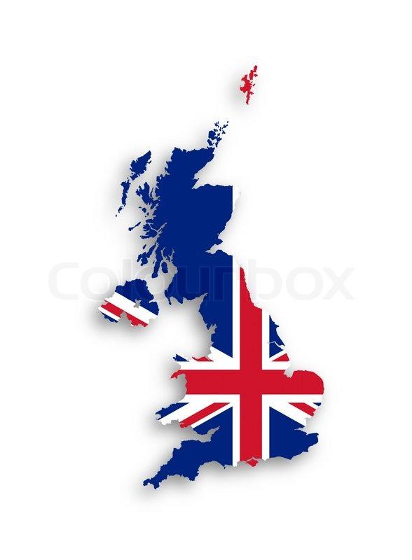 Großbritannien Karte Umriss.Karte Des Vereinigten Königreichs Von Stock Bild Colourbox