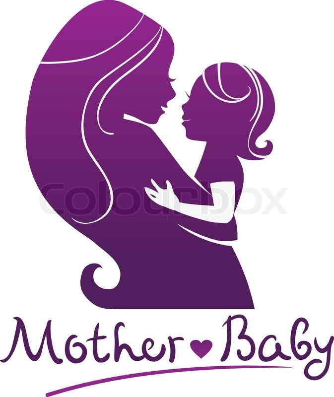 mother and baby silhouettes stock vector colourbox