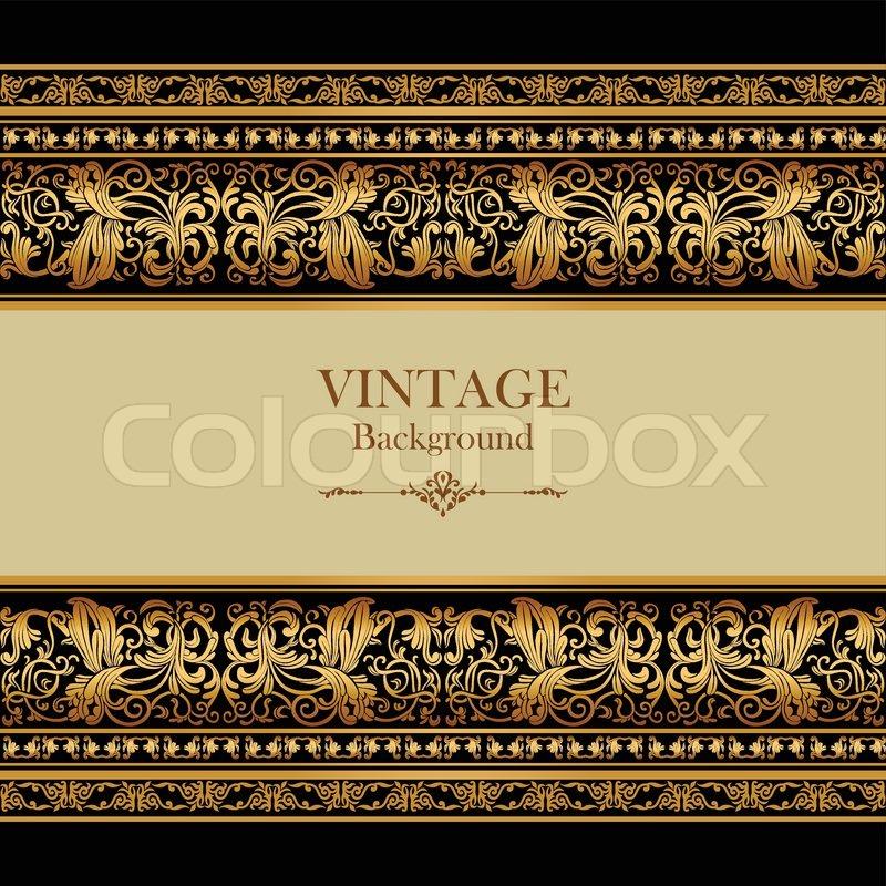 Vintage Background Elegance Antique Victorian Gold