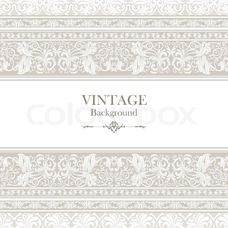 vintage background elegance antique victorian floral ornament