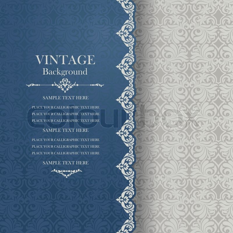 Vintage Book Cover Invitations ~ Vintage background antique greeting card invitation with