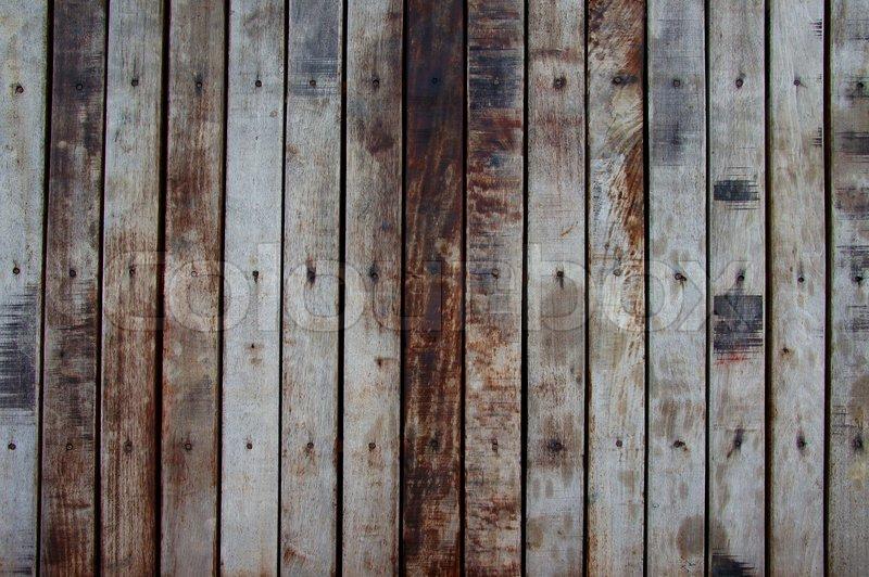 Old grunge wood panels used as background stock photo