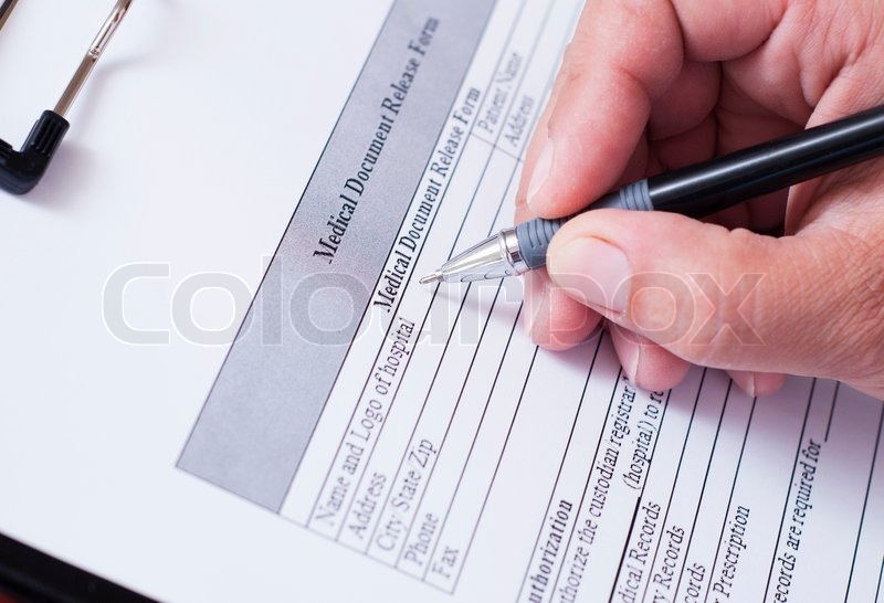 Medical form, stock photo