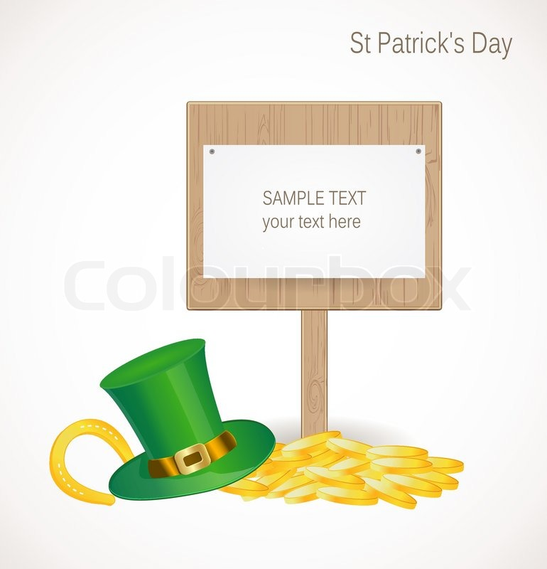 St patrick day background stock vector colourbox for Irish mail cart plans