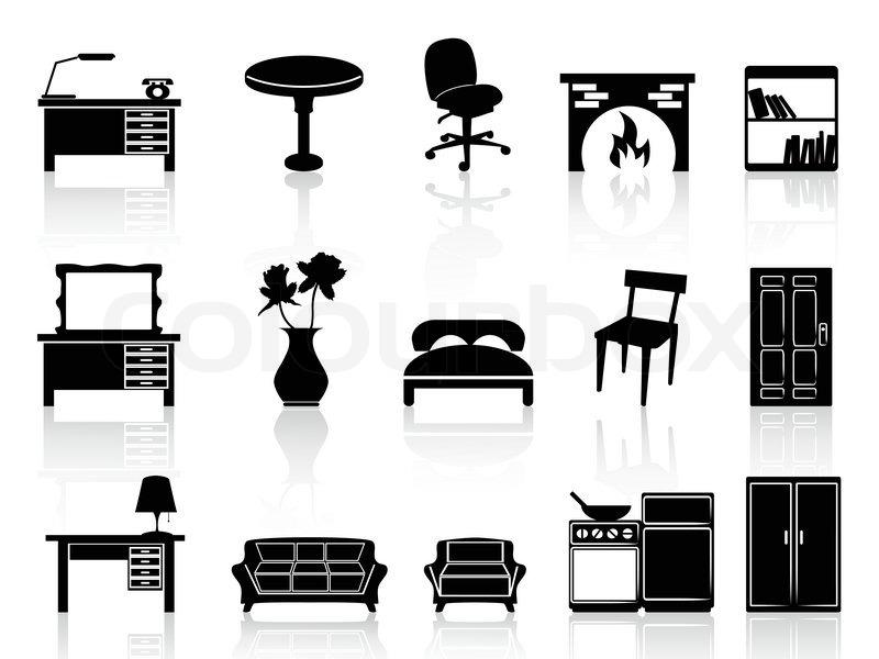 kuchenschrank clipart : Vektor, Couch, schreibtisch Stock-Vektor Colourbox
