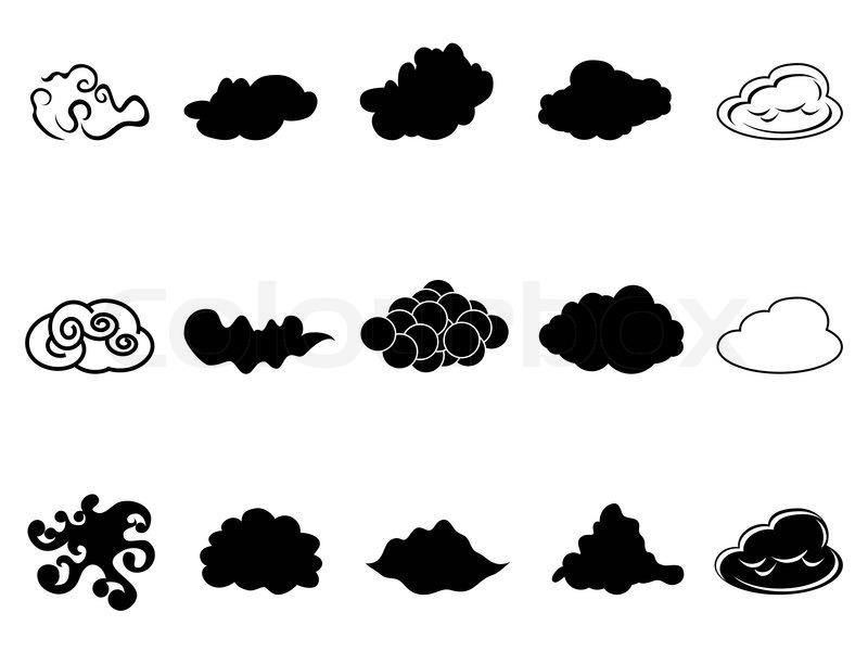 cloud symbol icons set   stock vector   colourbox  colourbox
