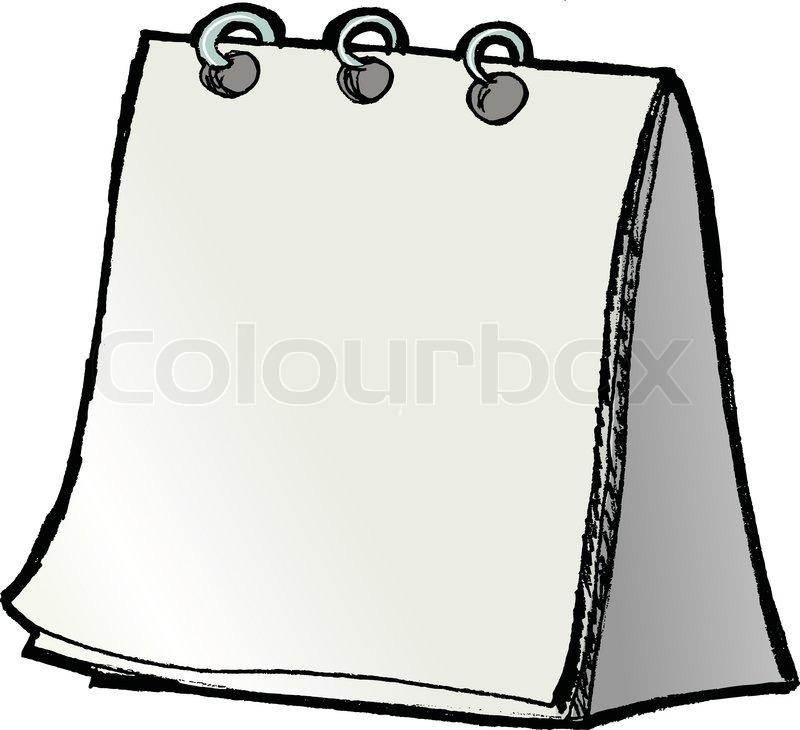 Blank Calendar Vector : Blank calendar stock vector colourbox