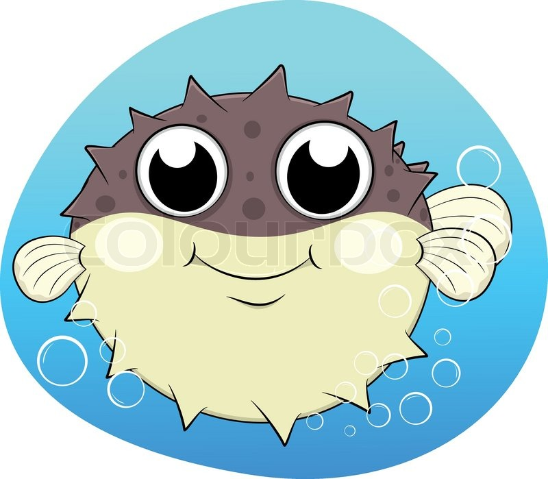 puffer fishblower fish stock vector colourbox