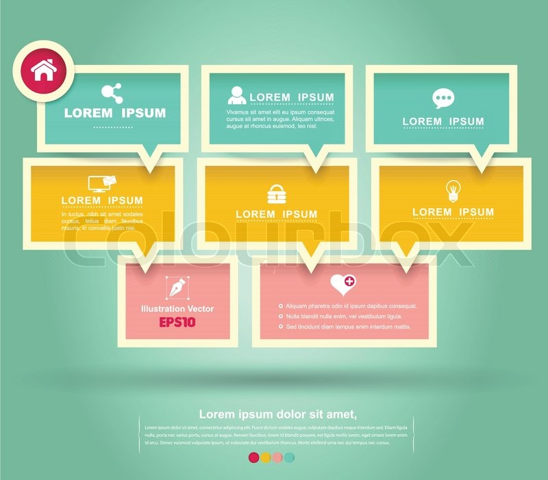 Vector Mini Infographic Loop Business Report Or Plan Modern - Mini brochure template
