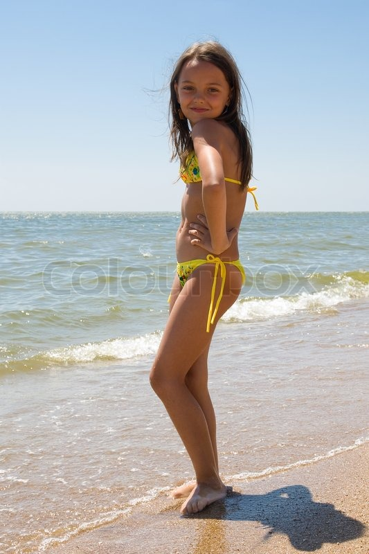 Little Girl Enjoying Her Vacation At Summer Resort Stock Photo Colourbox