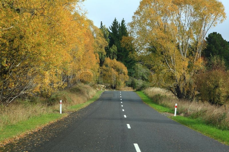 Long road stretching out, stock photo