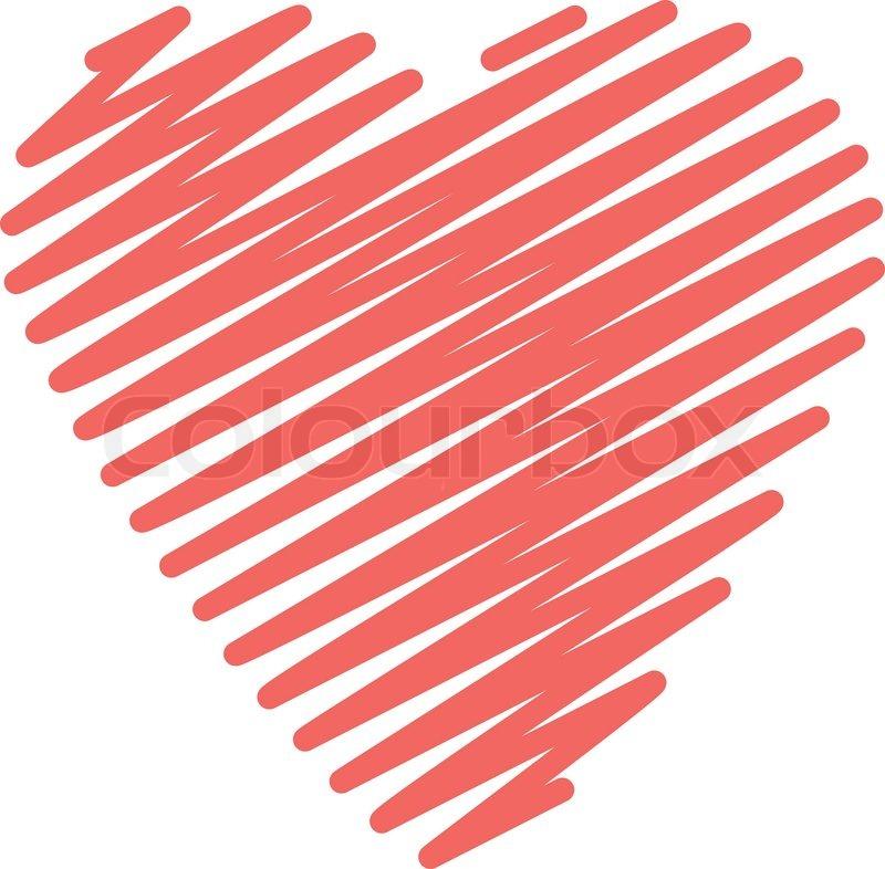 scribble heart big stroke stock vector colourbox heart shape vector free black and white heart shape vector