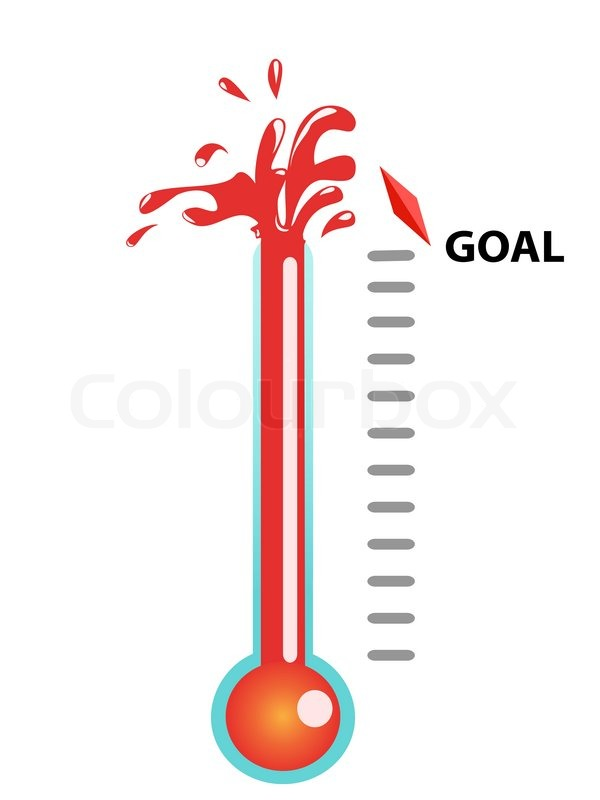 Goal Thermometer | Stock Vector | Colourbox
