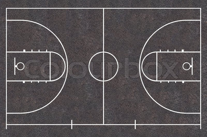 Basketball Court Floor Plan Asphalt Texture Street Basket