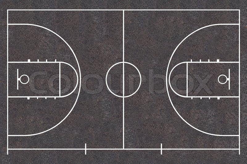 Basketball Court Floor Plan Asphalt Texture Street Basket