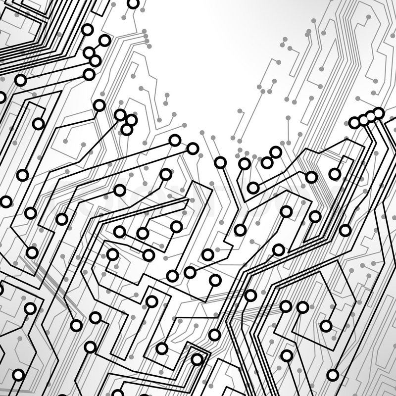 Circuit board vector background, technology illustration eps10 ...