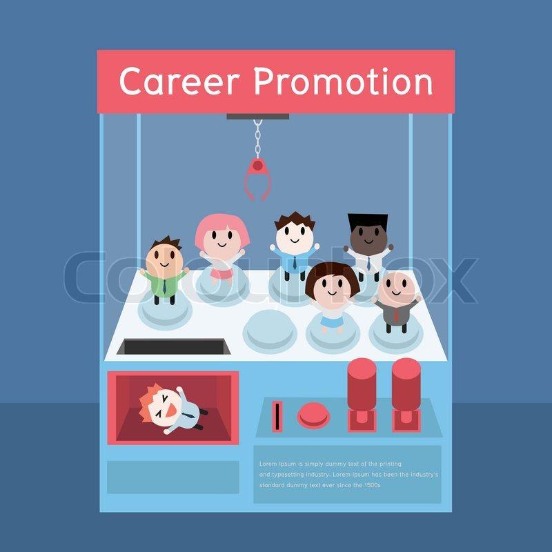 Career Promotion Concept Cartoon Stock Vector Colourbox
