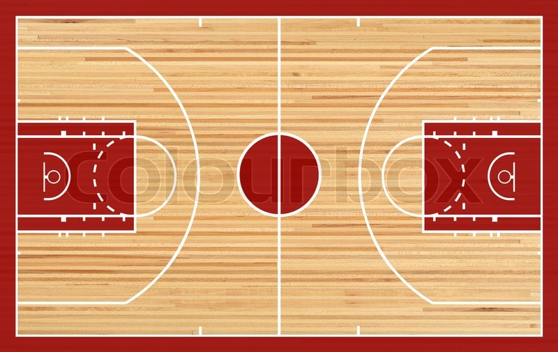 Basketball court floor plan on parquet background stock for Basketball gym floor plan