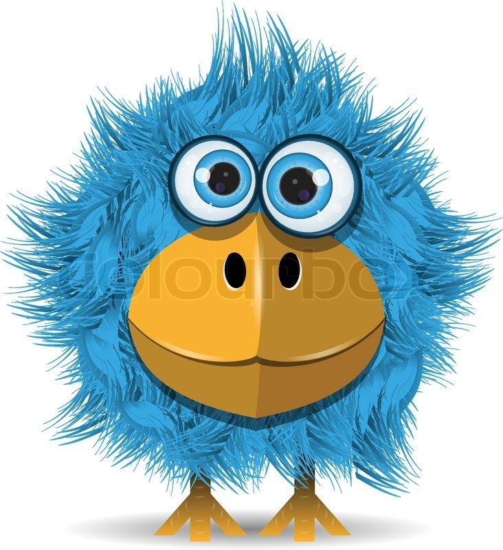Funny Blue Bird Stock Vector Colourbox