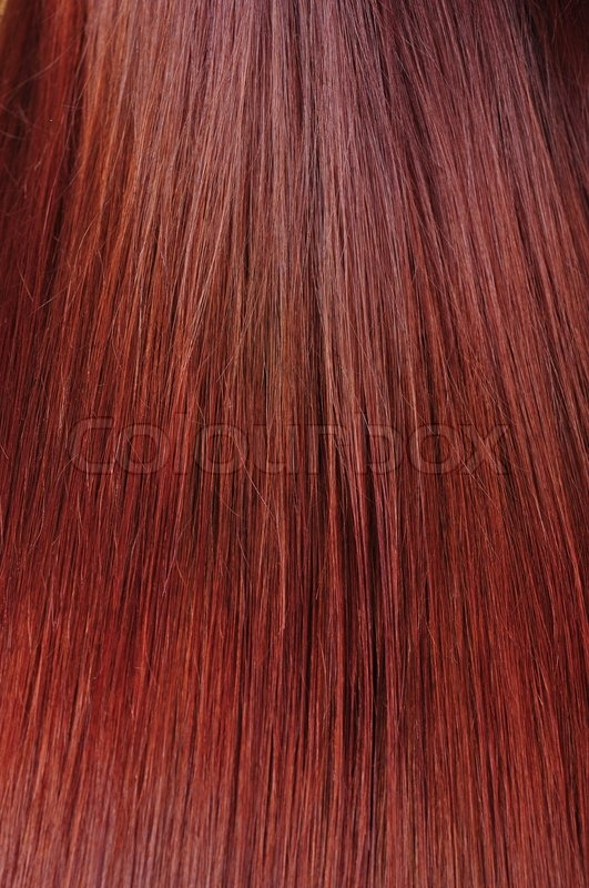 Red hair texture, stock photo