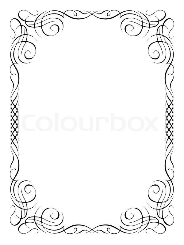 kalligraphie ornamentalen dekorativen