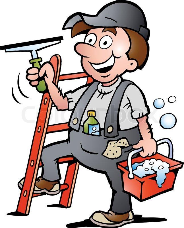 Handwerker clipart kostenlos  Hand gezeichnet Vektor-Illustration von einem Glückliche ...