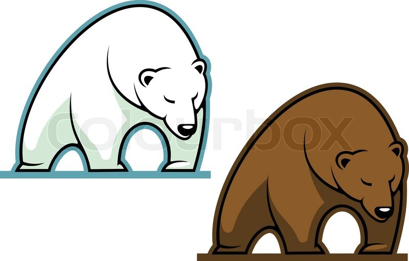 Big kodiak bear vektorgrafik colourbox