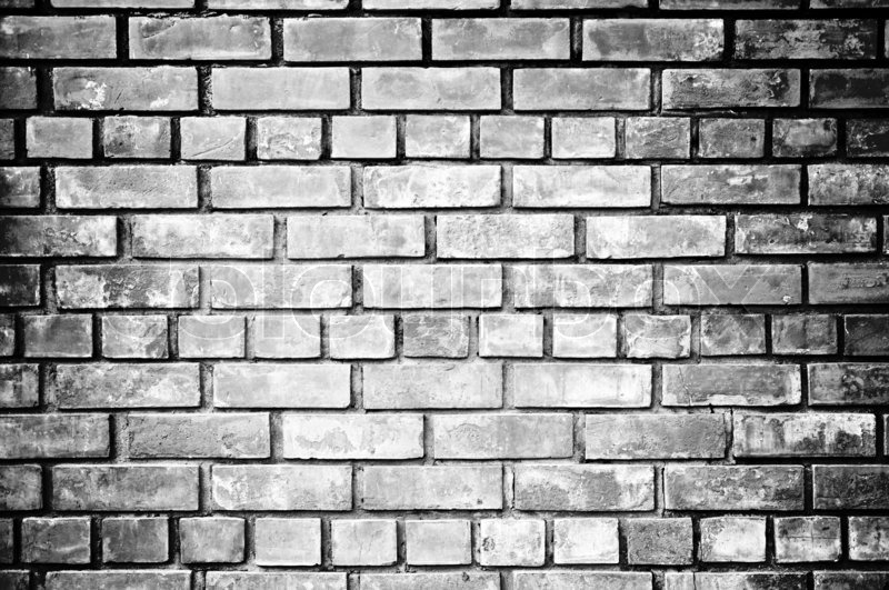 Black And White Brick Wall Background Stock Image Colourbox