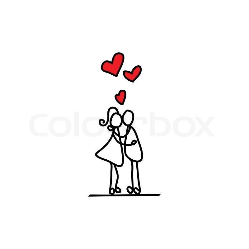 Cartoon Hand Gezeichnet Liebe