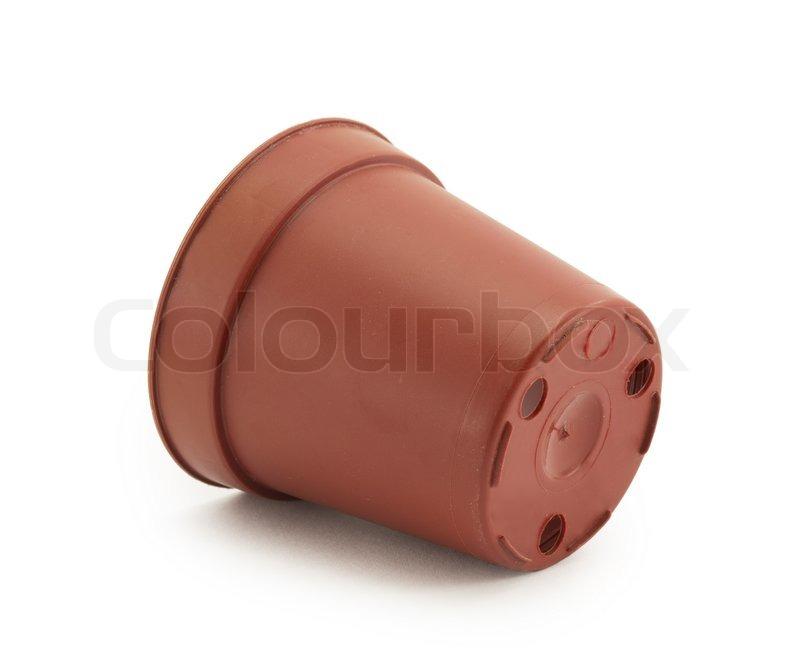 Kunststoff einweg beh lter blumentopf stockfoto colourbox for Blumentopf plastik