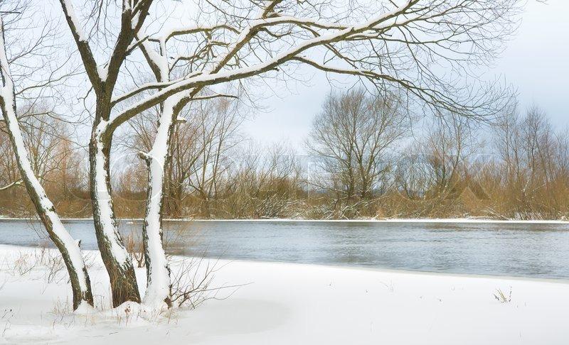 Winter river, stock photo