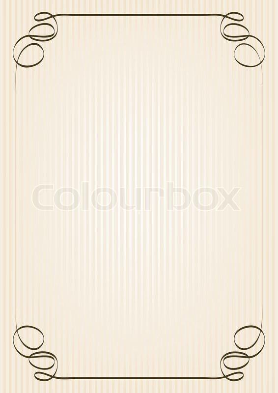 retro rahmen auf gelblichem hintergrund stockfoto colourbox. Black Bedroom Furniture Sets. Home Design Ideas