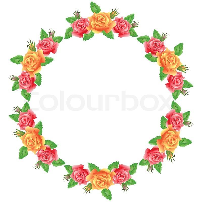 Blumen runden Rahmen | Stockfoto | Colourbox