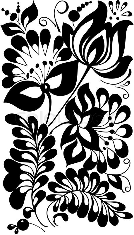 Black and white flower...