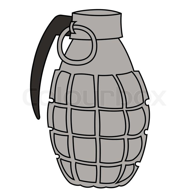 black outline vector hand grenade on white background stock rh colourbox com grenade fruit vector grenade vector icon