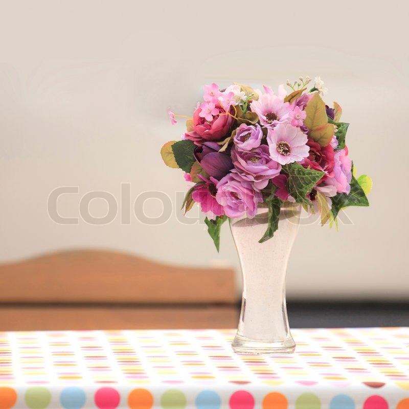 Flower Vase On The Table Stock Photo Colourbox