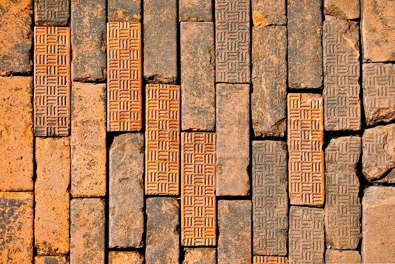 Der alte braune ziegel auf boden stockfoto colourbox for Boden ziegel