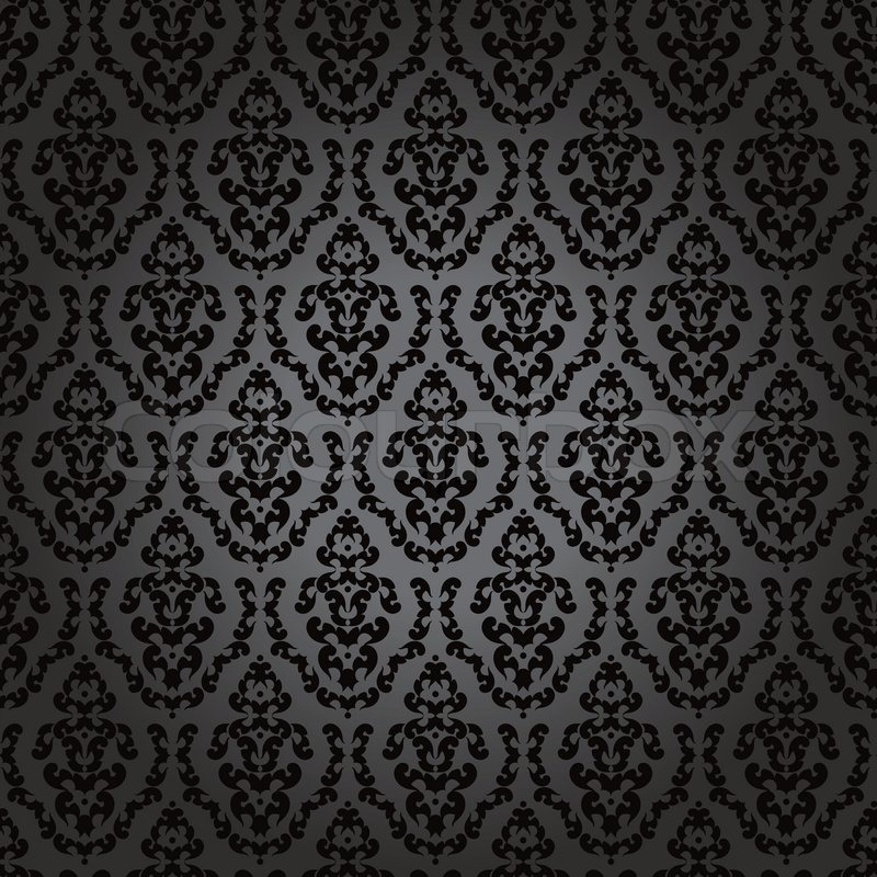 Pattern Gothic Floral Backgrounds Stock Vector Colourbox