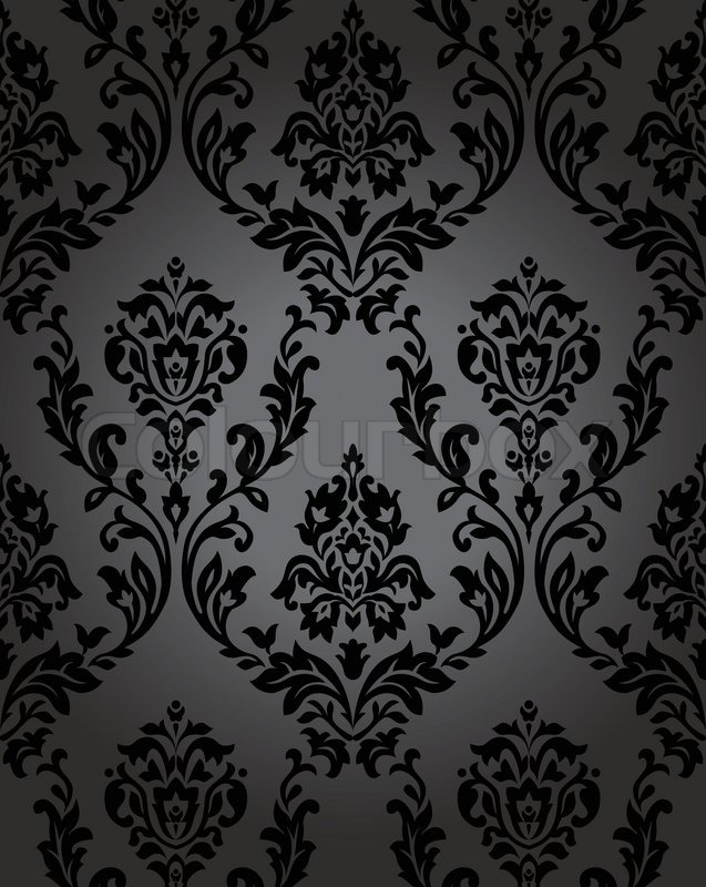 seamless wallpaper baroque blackeps stock vector colourbox. Black Bedroom Furniture Sets. Home Design Ideas