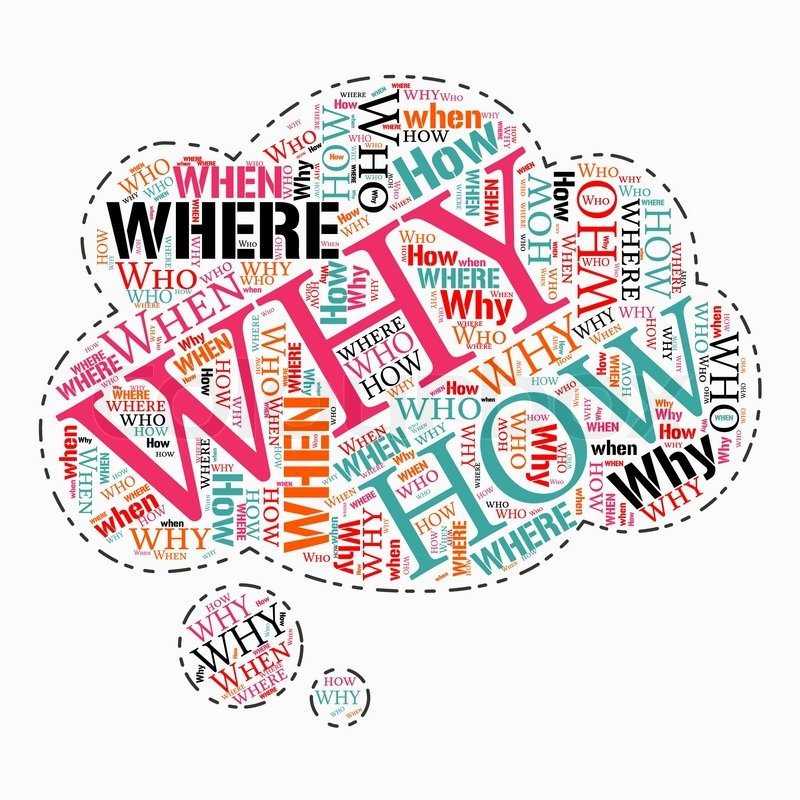 where who why how when info text question word cloud