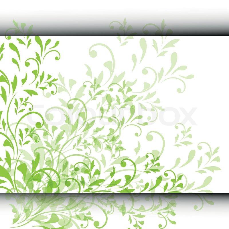 Einladung Oder Hochzeit Karte Mit Abstrakten Floralen Hintergrund |  Vektorgrafik | Colourbox
