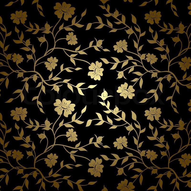 schwarz und gold floral textur f r den hintergrund vektor vektorgrafik colourbox. Black Bedroom Furniture Sets. Home Design Ideas