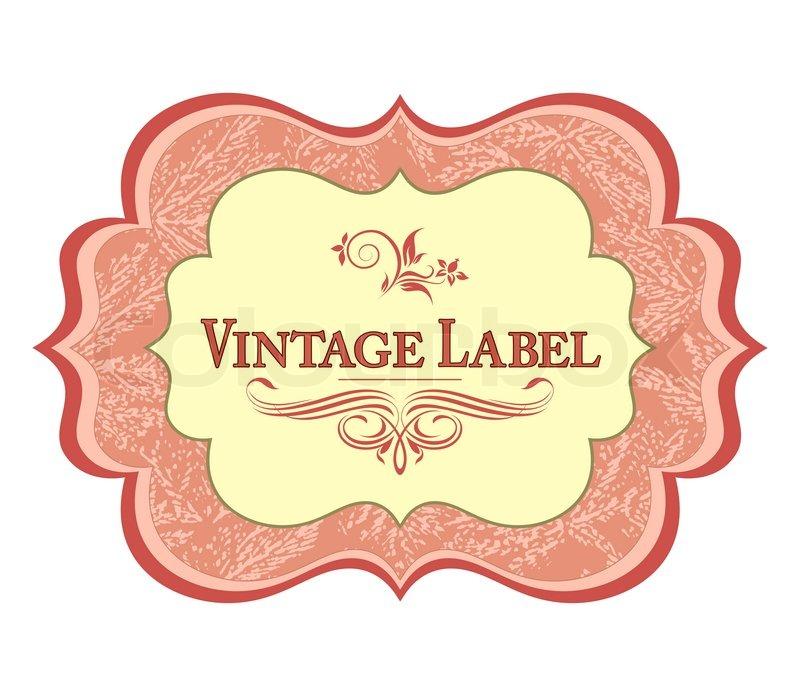 vintage labeleps vektorgrafik colourbox. Black Bedroom Furniture Sets. Home Design Ideas