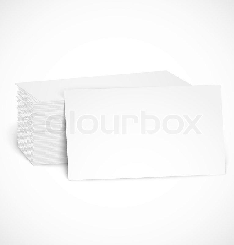 Stapel Von Visitenkarten Mit Schatten Stock Vektor