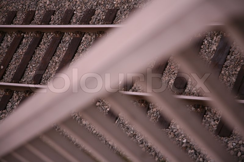 Stock image of 'Close-up on rail track'