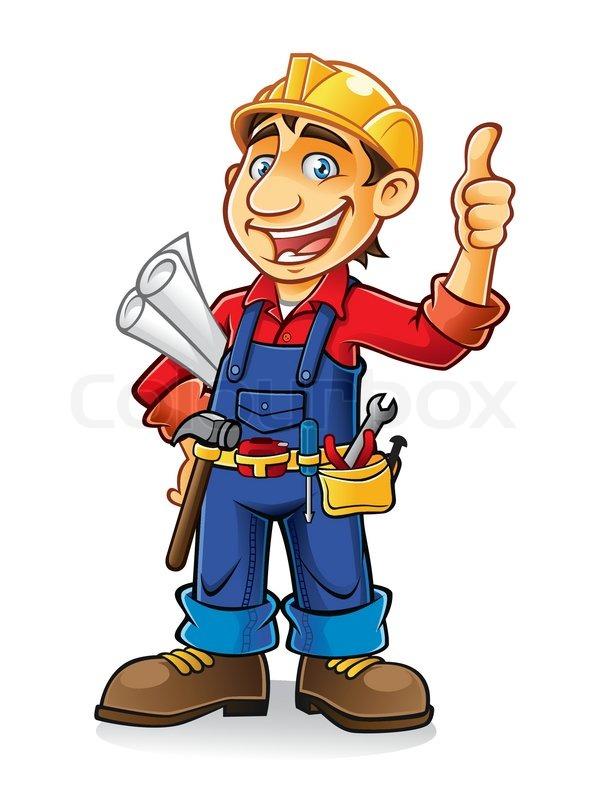 Bauarbeiter bei der arbeit comic  Bauarbeiter | Vektorgrafik | Colourbox