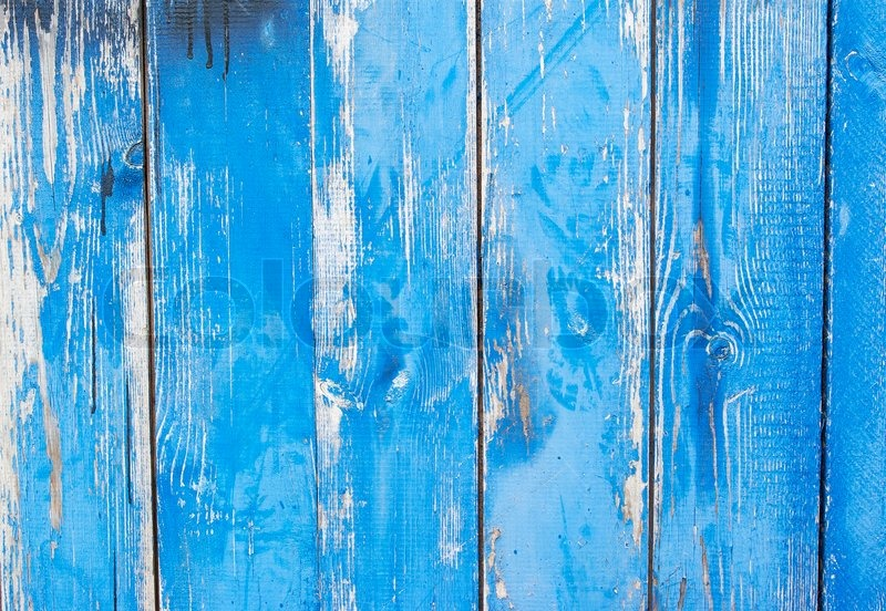 Texture Of Wood Blue Panel For Background Vertical Stock